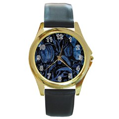 Art And Light Dorothy Round Gold Metal Watch