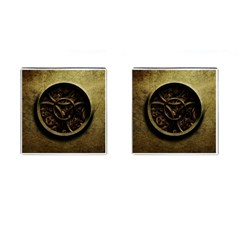Abstract Steampunk Textures Golden Cufflinks (Square)