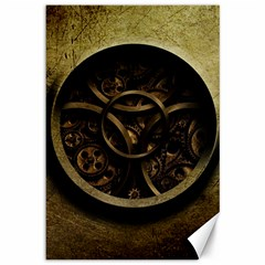 Abstract Steampunk Textures Golden Canvas 12  x 18