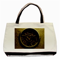 Abstract Steampunk Textures Golden Basic Tote Bag (Two Sides)
