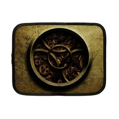 Abstract Steampunk Textures Golden Netbook Case (small)