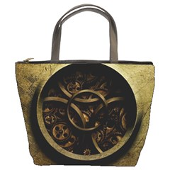 Abstract Steampunk Textures Golden Bucket Bags