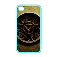 Abstract Steampunk Textures Golden Apple iPhone 4 Case (Color)