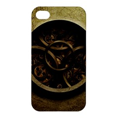 Abstract Steampunk Textures Golden Apple iPhone 4/4S Premium Hardshell Case