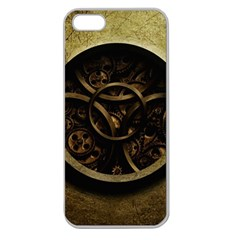Abstract Steampunk Textures Golden Apple Seamless iPhone 5 Case (Clear)