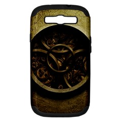 Abstract Steampunk Textures Golden Samsung Galaxy S III Hardshell Case (PC+Silicone)