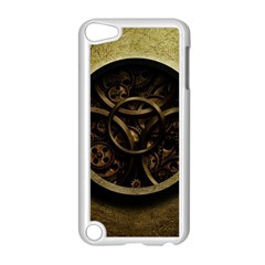 Abstract Steampunk Textures Golden Apple iPod Touch 5 Case (White)