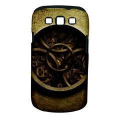Abstract Steampunk Textures Golden Samsung Galaxy S Iii Classic Hardshell Case (pc+silicone)