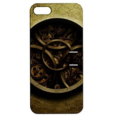 Abstract Steampunk Textures Golden Apple iPhone 5 Hardshell Case with Stand