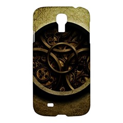 Abstract Steampunk Textures Golden Samsung Galaxy S4 I9500/I9505 Hardshell Case
