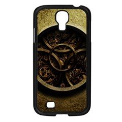 Abstract Steampunk Textures Golden Samsung Galaxy S4 I9500/ I9505 Case (Black)