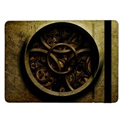 Abstract Steampunk Textures Golden Samsung Galaxy Tab Pro 12 2  Flip Case