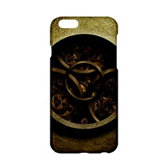 Abstract Steampunk Textures Golden Apple Iphone 6/6s Hardshell Case