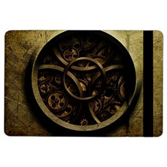Abstract Steampunk Textures Golden iPad Air 2 Flip
