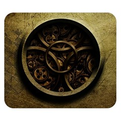 Abstract Steampunk Textures Golden Double Sided Flano Blanket (Small)