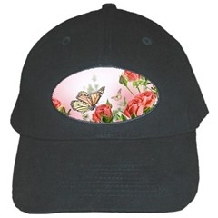 Flora Butterfly Roses Black Cap