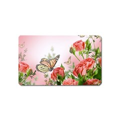Flora Butterfly Roses Magnet (name Card)
