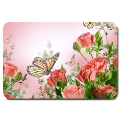 Flora Butterfly Roses Large Doormat