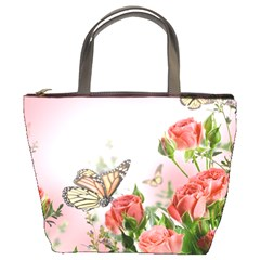 Flora Butterfly Roses Bucket Bags