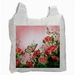 Flora Butterfly Roses Recycle Bag (Two Side)