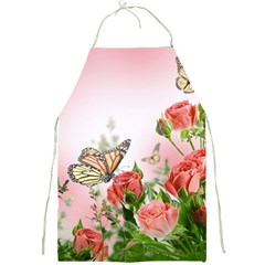Flora Butterfly Roses Full Print Aprons