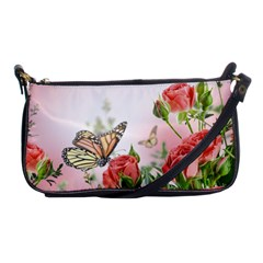 Flora Butterfly Roses Shoulder Clutch Bags