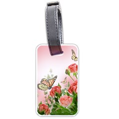 Flora Butterfly Roses Luggage Tags (two Sides)