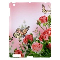 Flora Butterfly Roses Apple iPad 3/4 Hardshell Case
