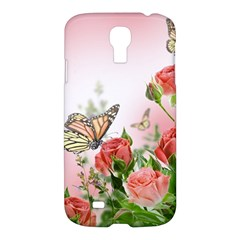 Flora Butterfly Roses Samsung Galaxy S4 I9500/I9505 Hardshell Case