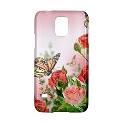 Flora Butterfly Roses Samsung Galaxy S5 Hardshell Case