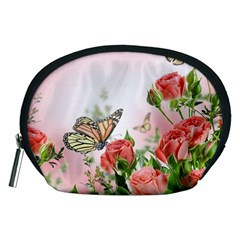 Flora Butterfly Roses Accessory Pouches (Medium)