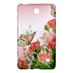 Flora Butterfly Roses Samsung Galaxy Tab 4 (7 ) Hardshell Case
