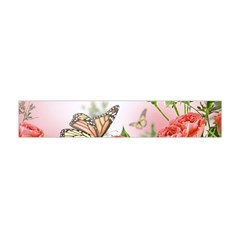 Flora Butterfly Roses Flano Scarf (Mini)