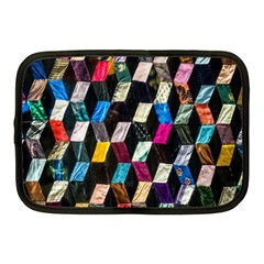 Abstract Multicolor Cubes 3d Quilt Fabric Netbook Case (Medium)