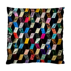 Abstract Multicolor Cubes 3d Quilt Fabric Standard Cushion Case (one Side)