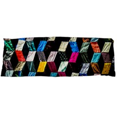 Abstract Multicolor Cubes 3d Quilt Fabric Body Pillow Case Dakimakura (two Sides)