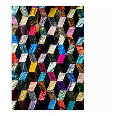 Abstract Multicolor Cubes 3d Quilt Fabric Small Garden Flag (two Sides)