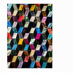Abstract Multicolor Cubes 3d Quilt Fabric Large Garden Flag (two Sides)