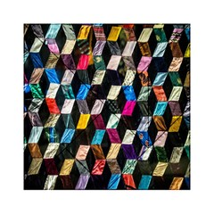 Abstract Multicolor Cubes 3d Quilt Fabric Acrylic Tangram Puzzle (6  x 6 )