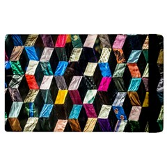 Abstract Multicolor Cubes 3d Quilt Fabric Apple iPad 2 Flip Case