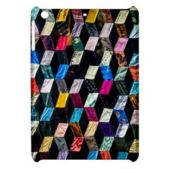Abstract Multicolor Cubes 3d Quilt Fabric Apple Ipad Mini Hardshell Case