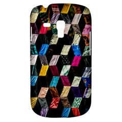 Abstract Multicolor Cubes 3d Quilt Fabric Galaxy S3 Mini