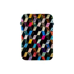 Abstract Multicolor Cubes 3d Quilt Fabric Apple Ipad Mini Protective Soft Cases
