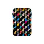 Abstract Multicolor Cubes 3d Quilt Fabric Apple iPad Mini Protective Soft Cases Front
