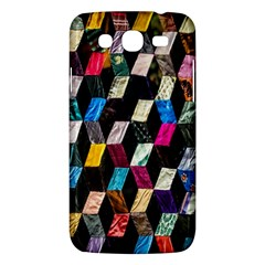 Abstract Multicolor Cubes 3d Quilt Fabric Samsung Galaxy Mega 5.8 I9152 Hardshell Case