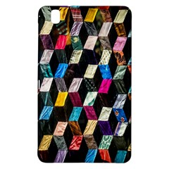 Abstract Multicolor Cubes 3d Quilt Fabric Samsung Galaxy Tab Pro 8 4 Hardshell Case