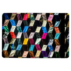 Abstract Multicolor Cubes 3d Quilt Fabric Ipad Air Flip
