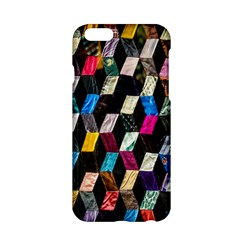 Abstract Multicolor Cubes 3d Quilt Fabric Apple Iphone 6/6s Hardshell Case