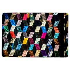 Abstract Multicolor Cubes 3d Quilt Fabric iPad Air 2 Flip