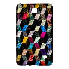 Abstract Multicolor Cubes 3d Quilt Fabric Samsung Galaxy Tab 4 (7 ) Hardshell Case